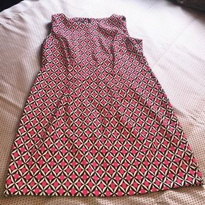 Geometric Sheath Dress with a retro vibe